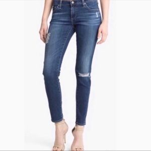AG The Legging Ankle Jeans Distressed Size 28